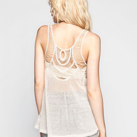 Blu Pepper Crochet Back Womens Cami Ivory  In Sizes