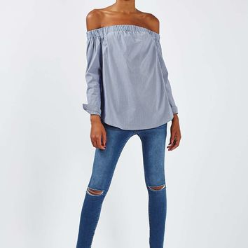 MOTO Blue Ripped Leigh Jeans