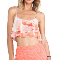 Show Me Your Mumu Lil Miss Crop Top in Pink
