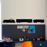 Wall Decal Art Decor Decals Sticker Train Modern Locomotive Wagon Road Mural Rails Fast Room Nursery M1504