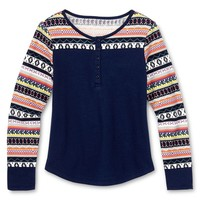 jcpenney - Arizona Long Sleeve Nordic Top Girls 6-16 and Plus - jcpenney