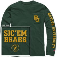 1508E Baylor University Vintage Wash Long Sleeve Pocket Tee | Baylor University
