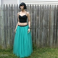 Neon Teal Floor Length Formal TuTu ALL SIZES MTCoffinz