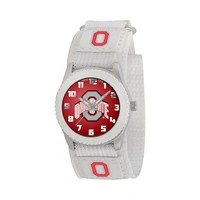 Game Time Rookie Series Ohio State Buckeyes Silver Tone Watch - COL-ROW-OSU - Kids (White)