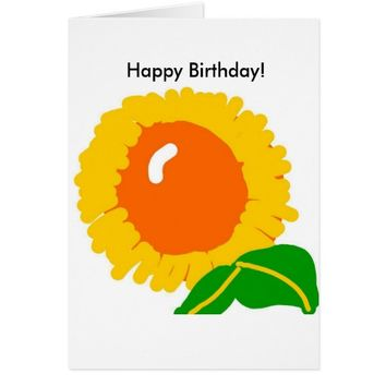 Sunflower birthday card