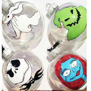 Shop Nightmare Before Christmas Ornaments on Wanelo