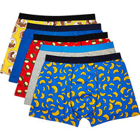 River Island MensMixed food print boxer shorts pack