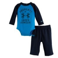 Under Armour Boys' Newborn UA Antler Property LS 2-Piece Set