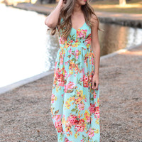 Heaven Sent Maxi Dress - Mint