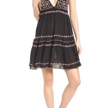 Raga Embroidered Babydoll Dress | Nordstrom