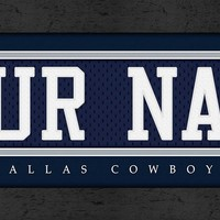 Dallas Cowboys | Jersey Stitch | Personalized | Nameplate Print | Framed | NFL