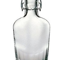 Swing Top Glass 250ml (8 Oz) Pocket Bormioli Rocco Flask Bottle