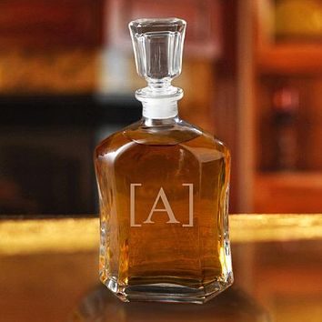 Personalized Whiskey Glass Decanter Free Engraving