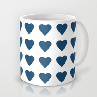 64 Hearts Navy Mug by Project M