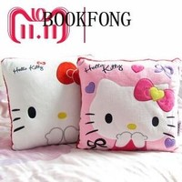 35*35CM Super Kawaii Hello Kitty Pillows Soft Back Cushion Stuffed Plush Toys Baby Love Very Good Quality Special Offer