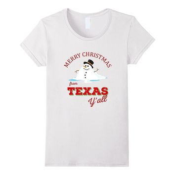 Merry Christmas from Texas - Melted Snowman Texas Xmas Shirt