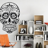Cool Skull Wall Decal Vinyl