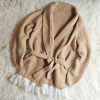 Vintage Lace Fisherman's Sweater