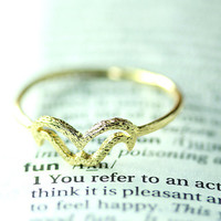 Mustache Ring Funny Ring 7.5 US Size Gold Silver Plated Jewelry gift idea