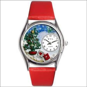 Christmas Tree Watch Small Silver Style