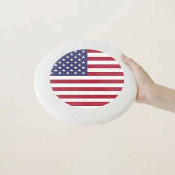 Patriotic, special Frisbee with Flag of USA