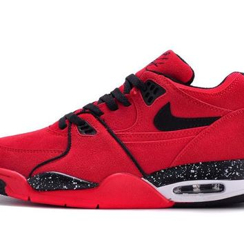 hcxx Nike Air Flight 89 Suede Fashion Causal Skate Shoes Red