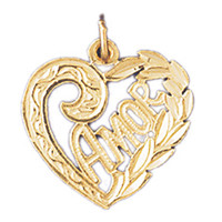 14K GOLD SAYING CHARM - AMOR #10235