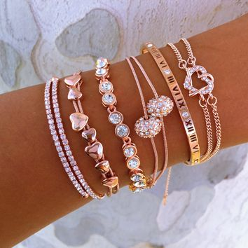 Rose Gold Everything Bracelet Stack