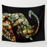 Elephant dream Wall Tapestry by Laureenr