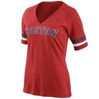 Nike Boston Red Sox Ladies Away Fan T-Shirt - Red