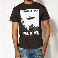 X-Files I Want To Believe T- shirt - Spencer's