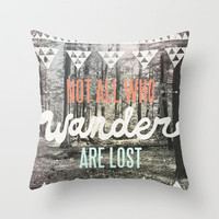 Wander Throw Pillow by Wesley Bird | Society6
