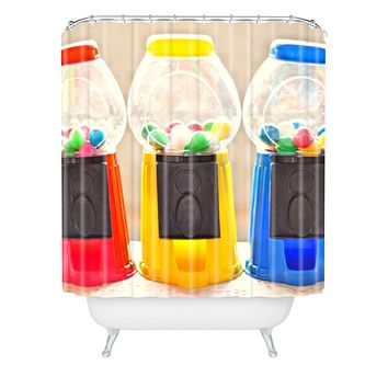 Lisa Argyropoulos Bubble Gum In Primary Shower Curtain