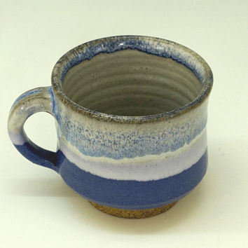 Blue mug, ceramic mug, coffee mug, pottery mug, handmade, stoneware, high fired