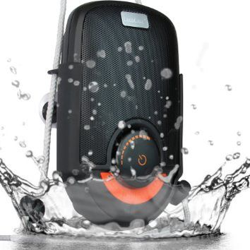 LuguLake Soul Waterproof Shockproof Shower Speaker, Portable Bluetooth Stereo Speaker With Suction Cup Bluetooth Splash Speaker For Showers, Bathroom, Pool, Boat, Car, Beach, Outdoor; Hands Free Mic Speaker Shower Speakers Rechargeable For iPhone/ iPad / A