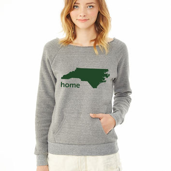 north carolina home ladies sweatshirt