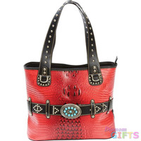 LADIES TURQUOISE BUCKLE PURSE