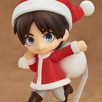 Attack On Titan Shingeki no Kyojin Mini Nendoroido Eren Yeager Santa Figure JP