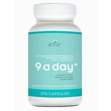 9 A Day Plus Whole Food Multi-Vitamins 8.0oz 270 Capsules