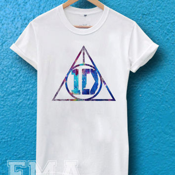 one direction deathly hallows galaxy ,T shirt for women and men