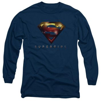 Supergirl - Logo Glare Long Sleeve Adult 18/1 Officially Licensed Shirt