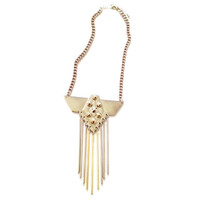 METAL SPIKE FRINGE NECKLACE
