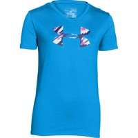 Under Armour Girls' UA Tech Big Logo V-Neck T-Shirt