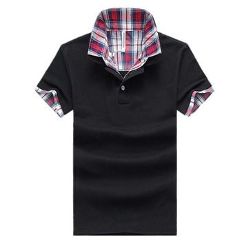 Drop Shipping Polo Shirt Men 2018 New Casul Stand Collar Mens Polos Business Male Short Sleeve Polo