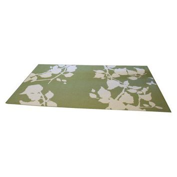 Threshold™ 8' x 10' Rectangular Patio Rug - Botanical Green Leaf