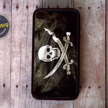 Rugged Grunge Pirate Flag iPhone 4 / 4s case