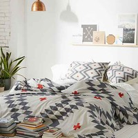 Holli Zollinger For DENY Natural Plus Duvet Cover- Grey