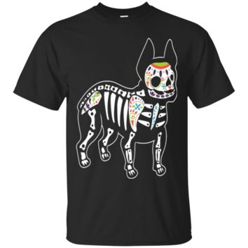Colorful Day of Dead French Bulldog TShirt