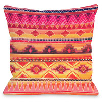 """Tequila Sunrise"" Indoor Throw Pillow by OneBellaCasa, 16""x16"""