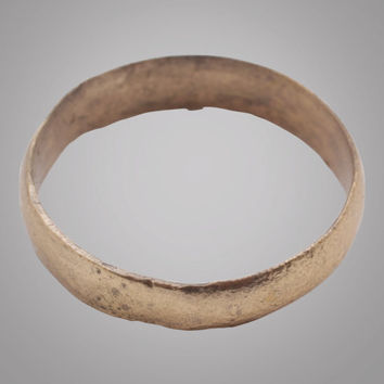 Authentic Ancient Viking Wedding Band Jewelry C.866-1067A.D. Size 9 1/4  (18.7mm)(Brr846)